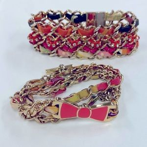 Vera Bradley gold chain and material bracelet duo